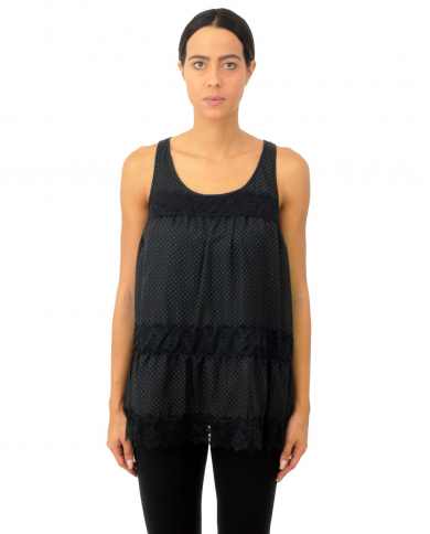 TWINSET U&B Top micro pois...