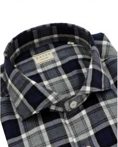 XACUS Camicia a quadri Blu