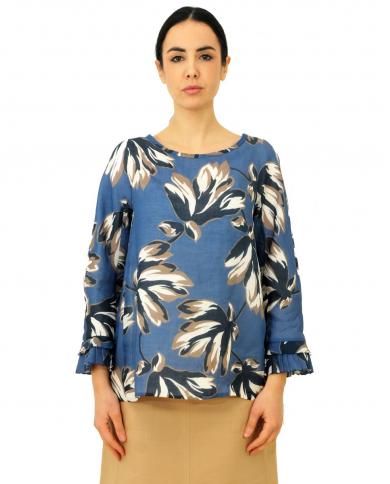 'S MAX MARA Camicia stampata Eleonor Fiorato 91110201600 003