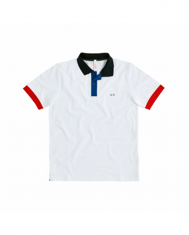 SUN 68 Polo 3 COLOR WAY EL Bianco A30108 01