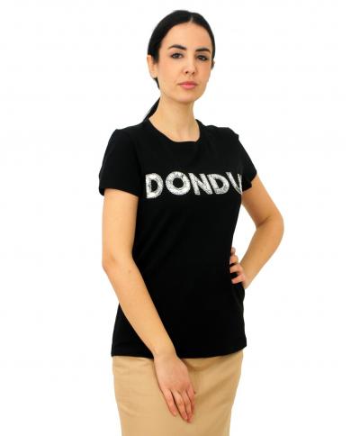 DONDUP T-shirt con paillettes Nero S007 JS0241D ZE2 999
