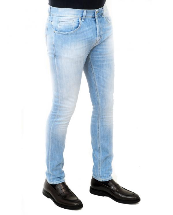 DONDUP Pantalone George denim chiaro UP232 DS0107U AA9 800