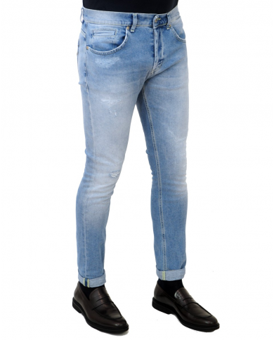 DONDUP Pantalone George denim chiaro UP232 DS0222U AC8 800