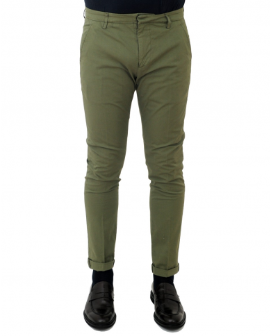 DONDUP Pantalone Gaubert VERDE MILITARE UP235 PSE014U PTD 633