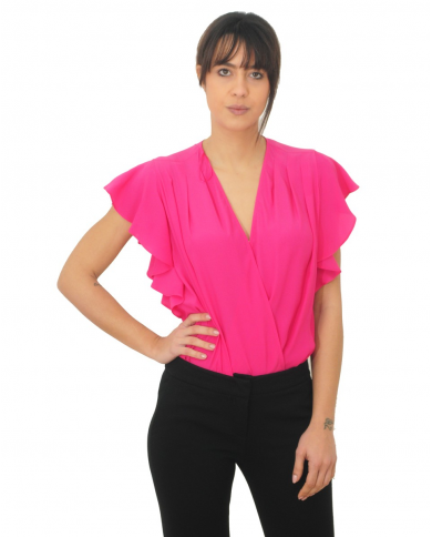 TWINSET Blusa a body in misto seta JAZZ 201TT2341 03546