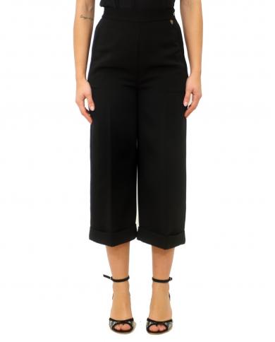 TWINSET Pantalone cropped NERO 201TP202C 00006